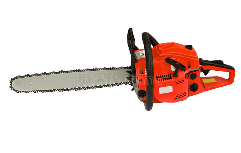 chainsaw arkivbild