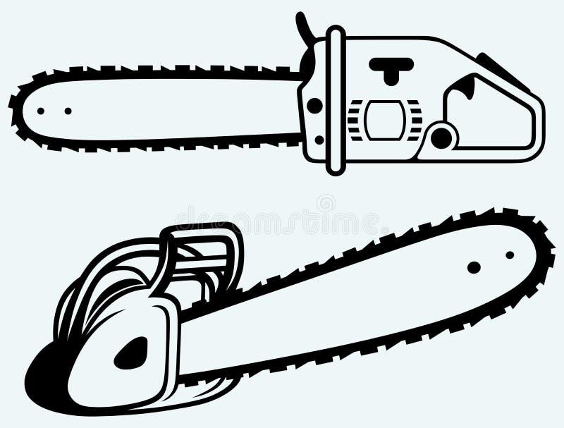 chainsaw ilustración del vector