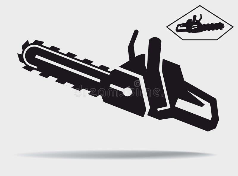 chainsaw stock de ilustración