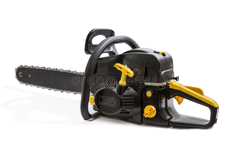 Chainsaw. Isolated on white background royalty free stock photos