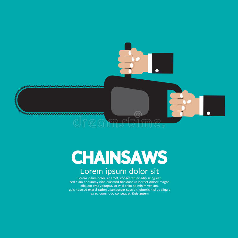 Download Chainsaw stock vector. Illustration of sawyer, black - 39507648