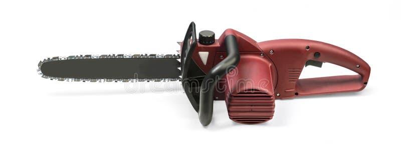 chainsaw Su bianco fotografia stock libera da diritti