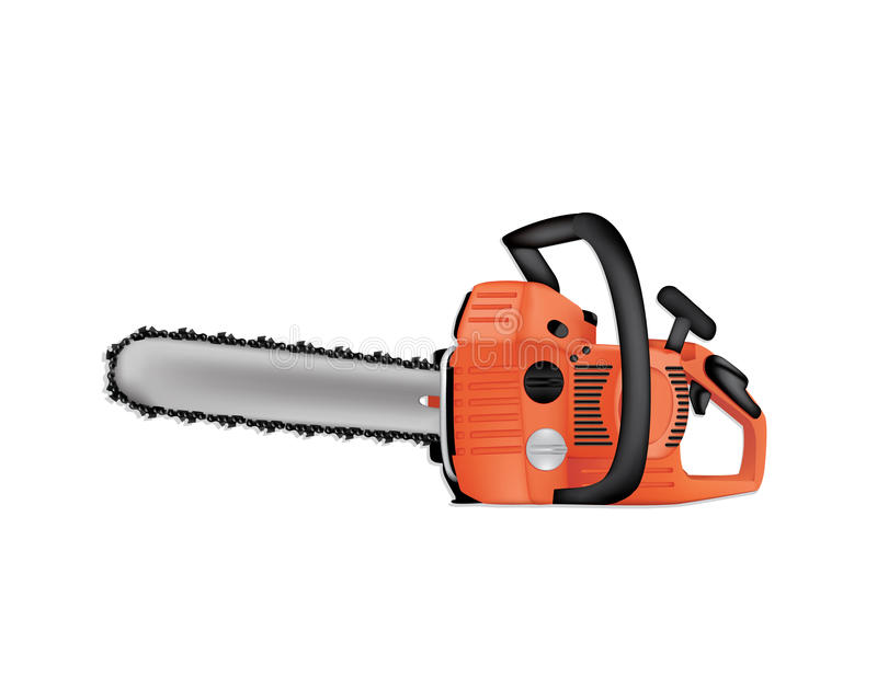 Chainsaw vector illustration royalty free stock images