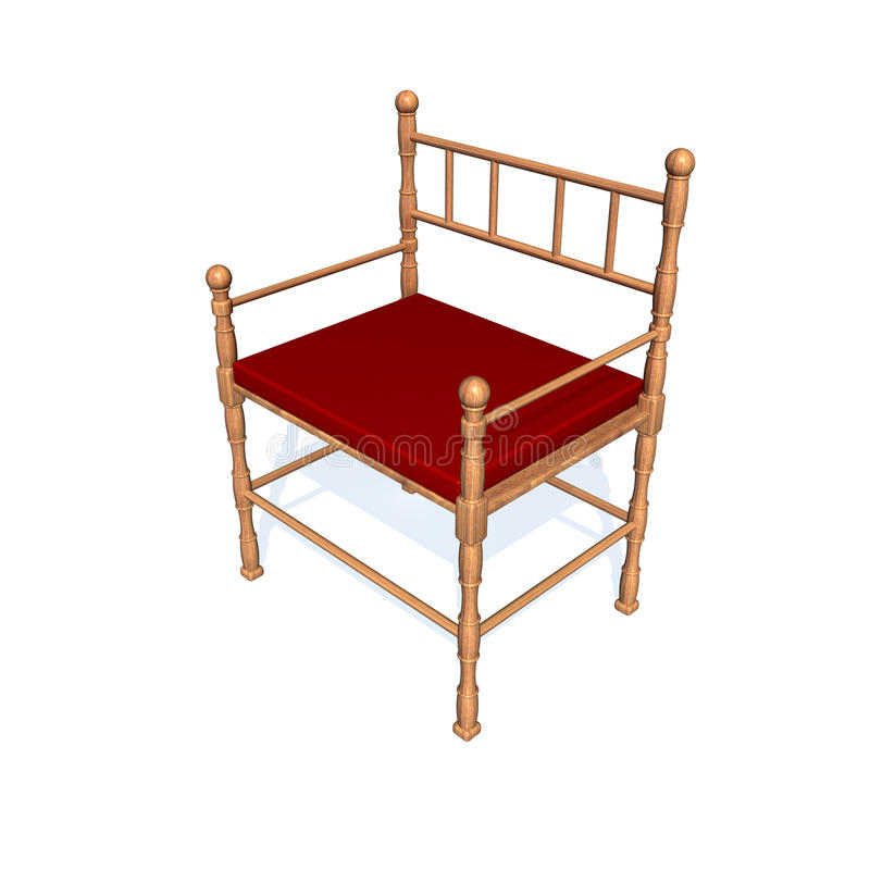 Download Chair stock illustration. Image of style, wood, chair - 12542852