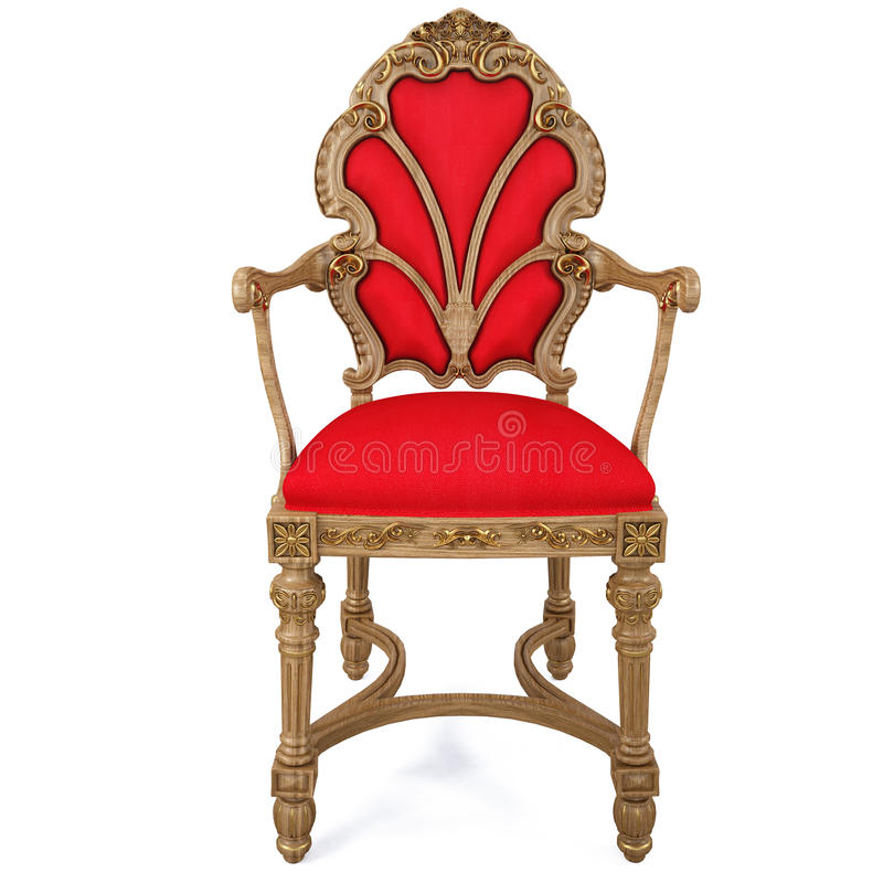 Download Chair stock illustration. Image of carving, classic, golden - 14853496