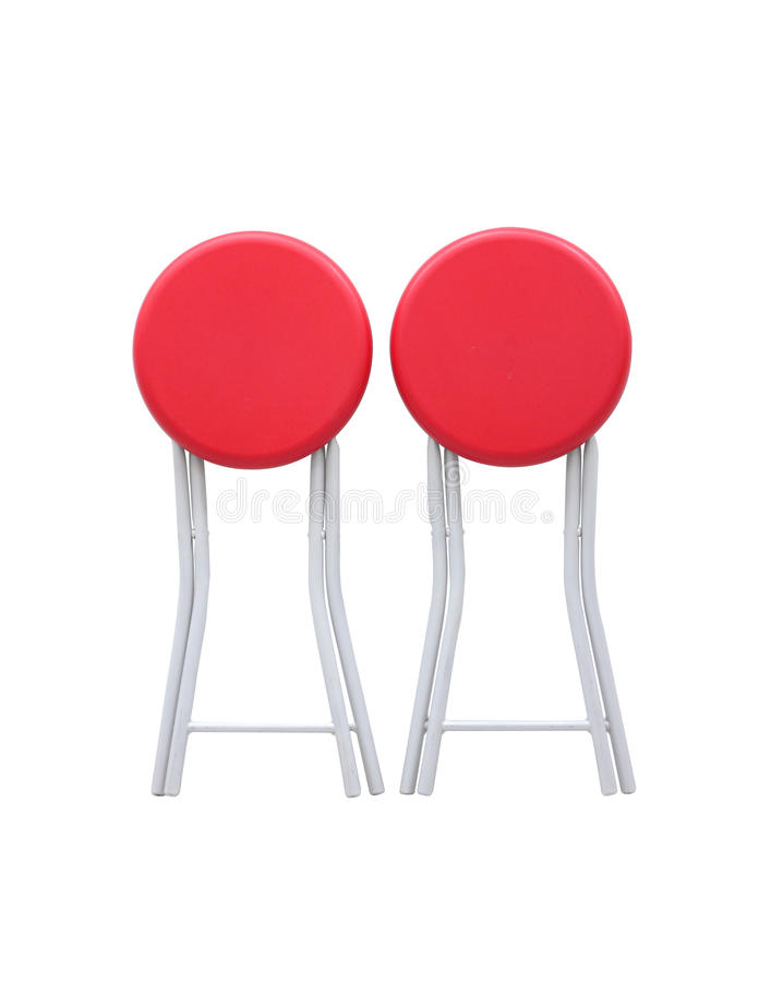 The chair. Color red for sit stock image