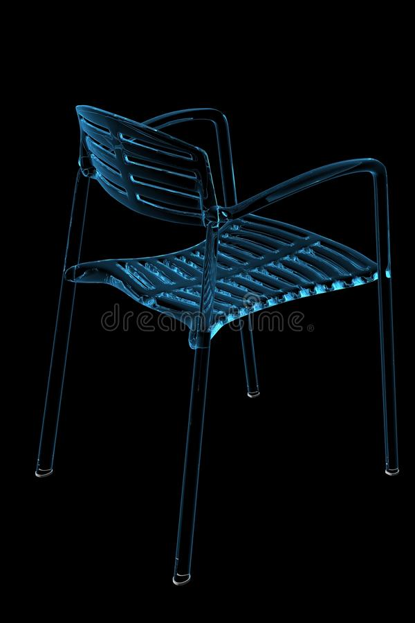 Download Chair (3D Xray Blue) Stock Images - Image: 16320884