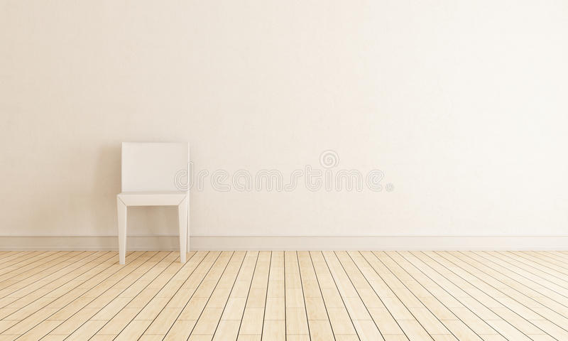 Chair against wall stock photos
