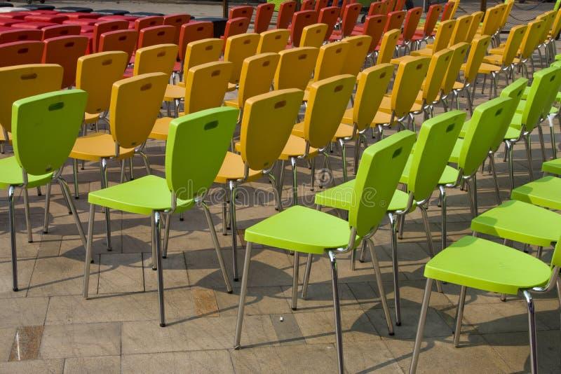 Chair arrangement stock image