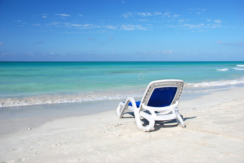 Download Chair at a Beach stock image. Image of ocean, lounge, sand - 8457855