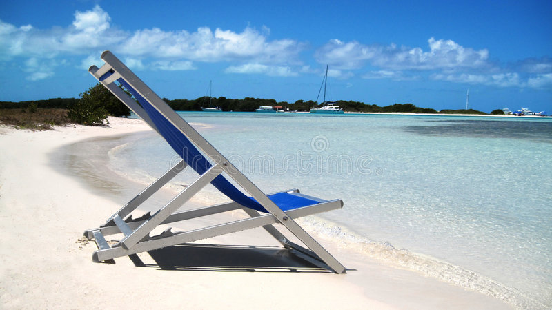 Chair and beach stock photo