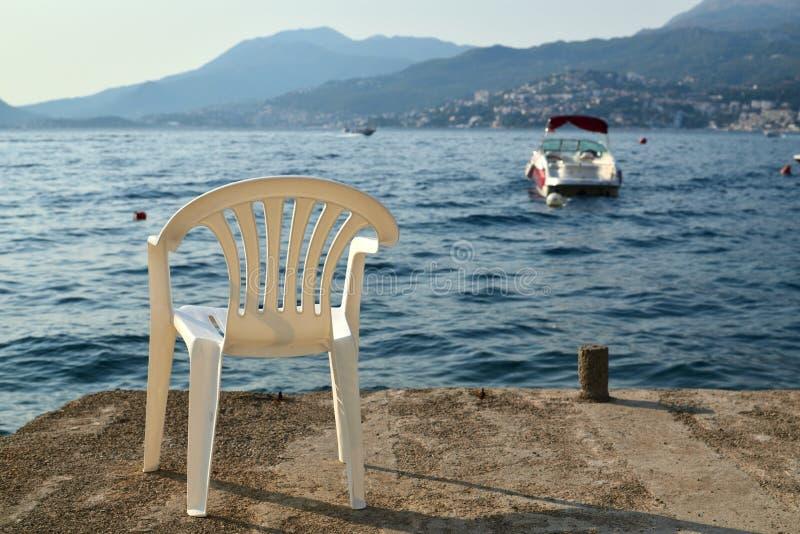 Chair on a beach stock photo