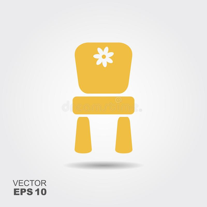 Chair for children. Flat icon royalty free illustration
