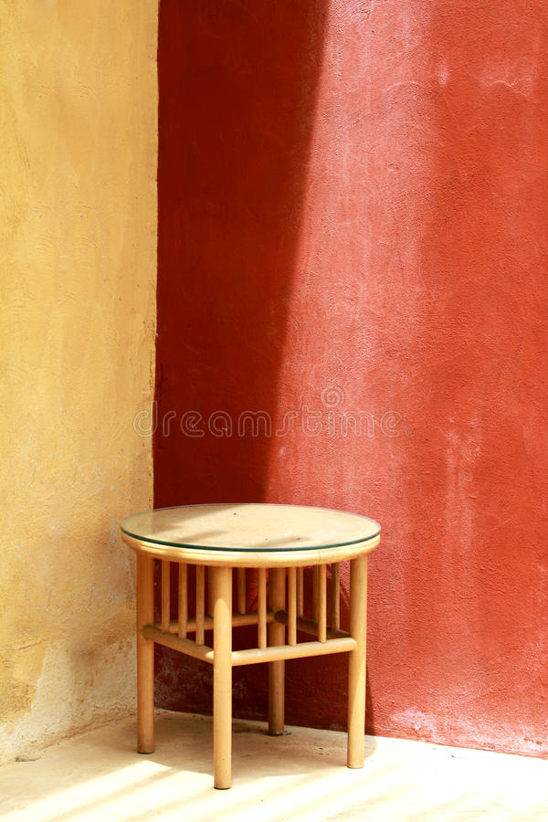Chair on concrete floor. Beautiful interior with chair on concrete floor stock photography