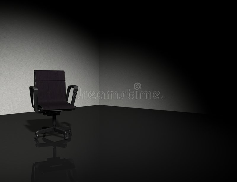 Chair in the dark royalty free stock photo