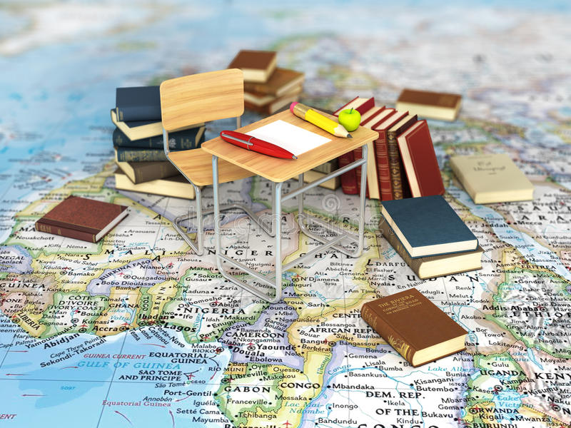 Chair and desk with books on the world map stock image image of download chair and desk with books on the world map stock image image of gumiabroncs Choice Image