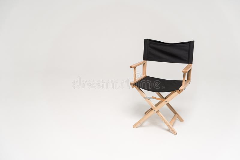 Chair of the director. Director chair isolated on white background stock images