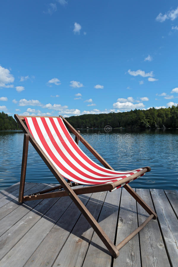 Chair on the dock royalty free stock images