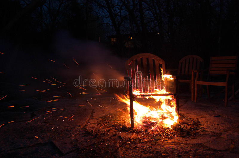 Download Chair On Fire Stock Image. Image Of Hotseat, Chair, Dramatic    86613789