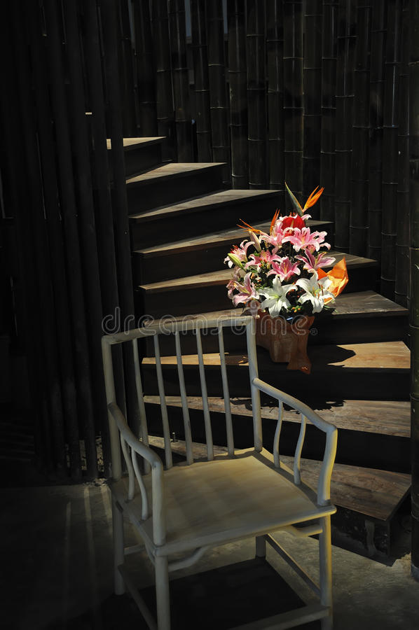 Download Chair,flowers And Stairs Royalty Free Stock Photos - Image: 21633168