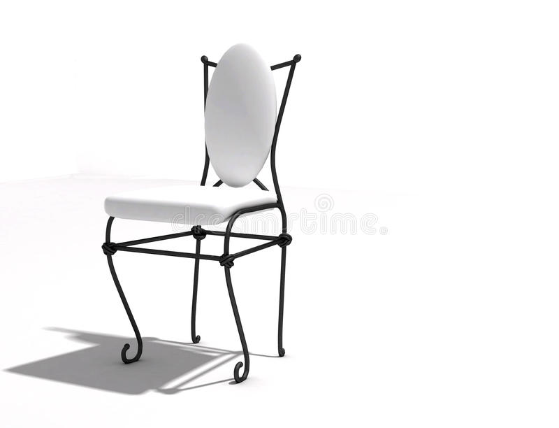 Chair forged royalty free stock photo