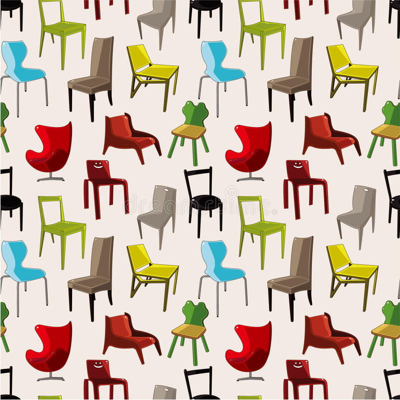 Download Chair Furniture Seamless Pattern Stock Vector - Image: 20747732
