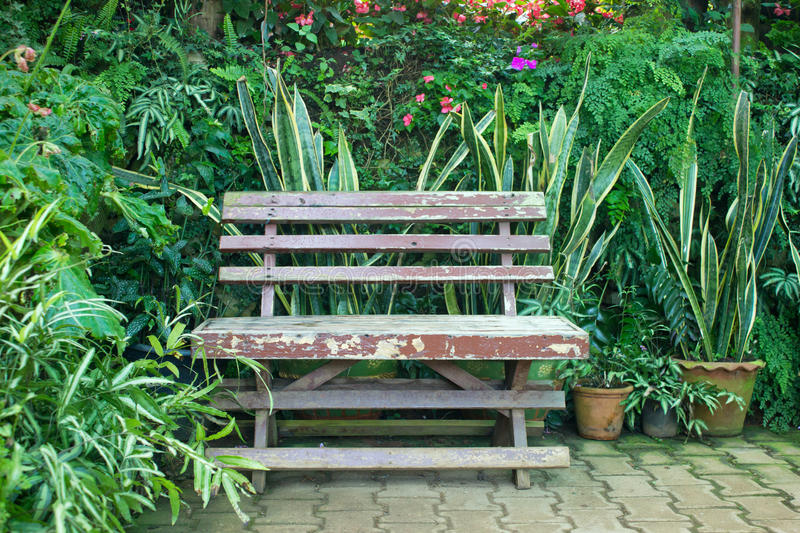 Chair In A Garden Royalty Free Stock Photography
