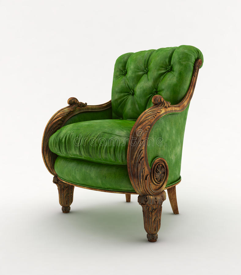 Chair green classic royalty free illustration