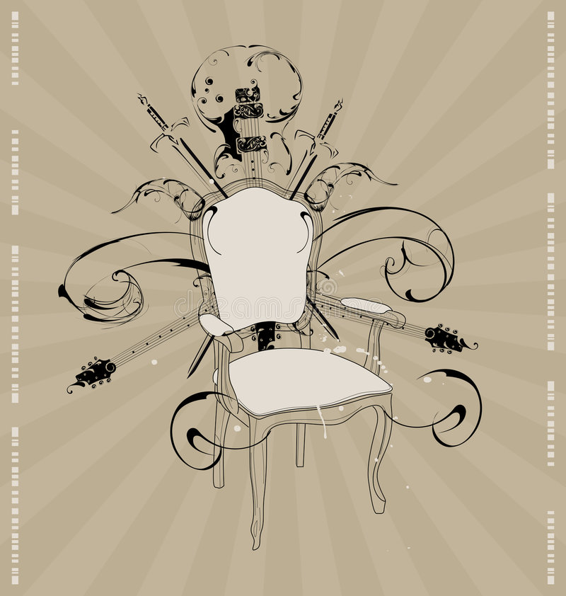 Download Chair With A Guitar Stock Images - Image: 7194734