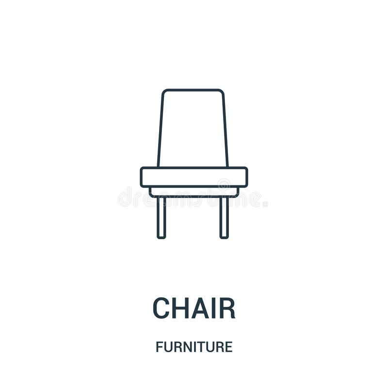 Chair icon vector from furniture collection. Thin line chair outline icon vector illustration. Linear symbol for use on web and. Mobile apps, logo, print media vector illustration