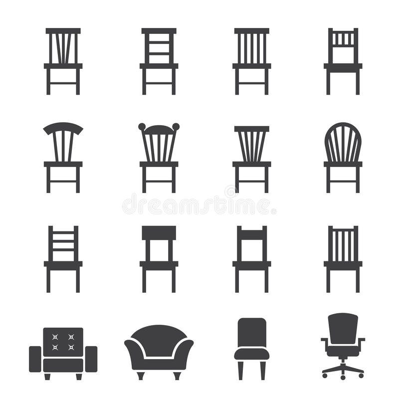 Chair icon stock vector. Illustration of object, chaise - 50272065