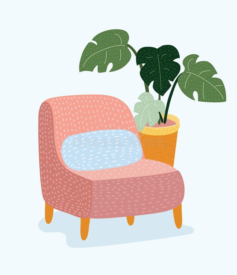 Chair icon for your design. stock illustration