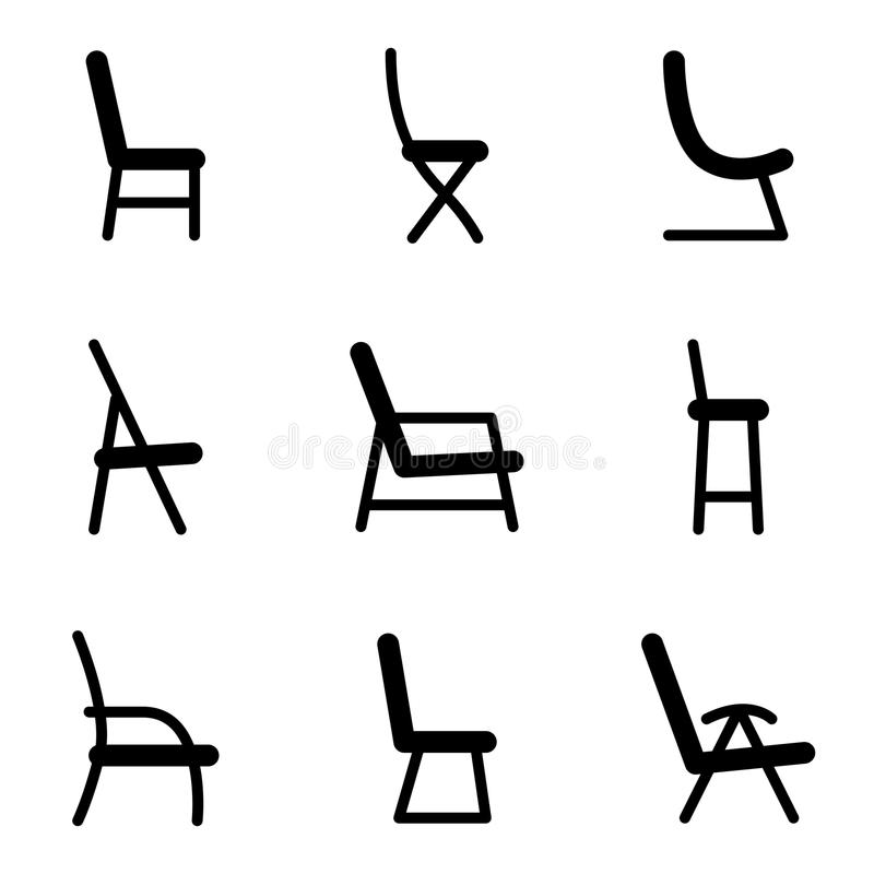 Chair icons vector illustration