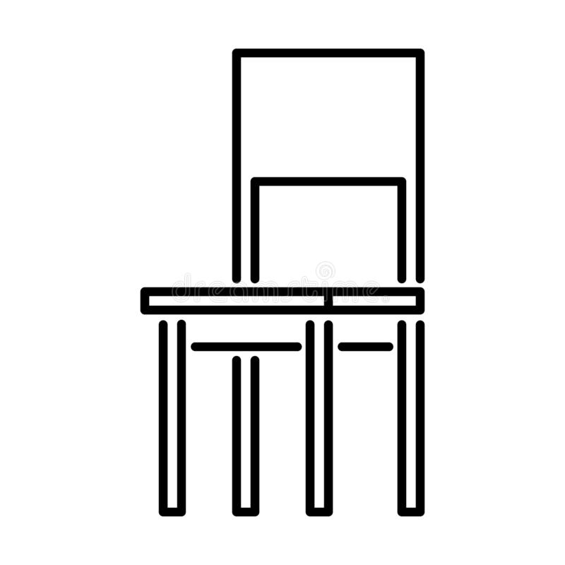 Chair Outline - msidiqf royalty free illustration
