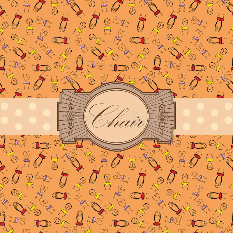 Download Chair label stock vector. Illustration of ornament, grungy - 20441199