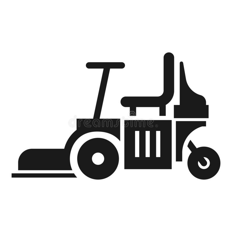 Chair lawn mower icon, simple style royalty free illustration