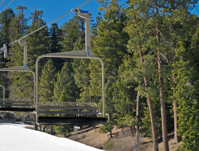 Download Chair Lift stock photo. Image of snow, green, chair, trees - 23195924