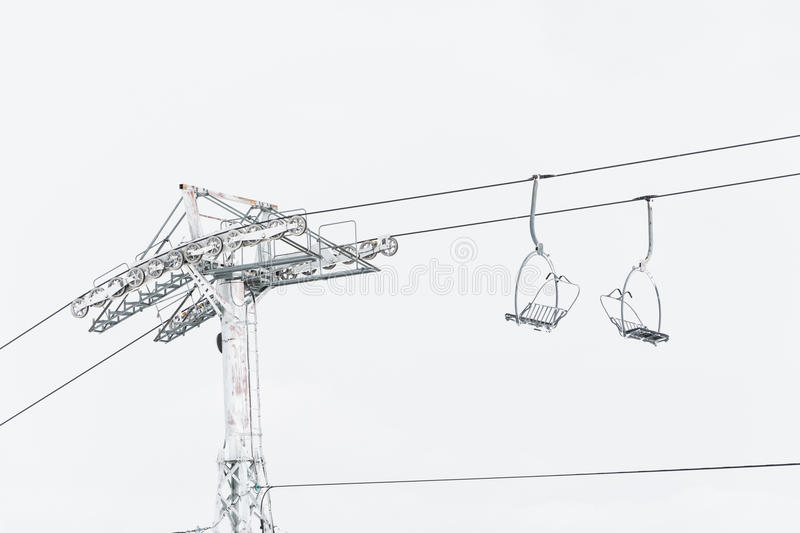 Chair lift. Abstract shot of a chair lift royalty free stock photo