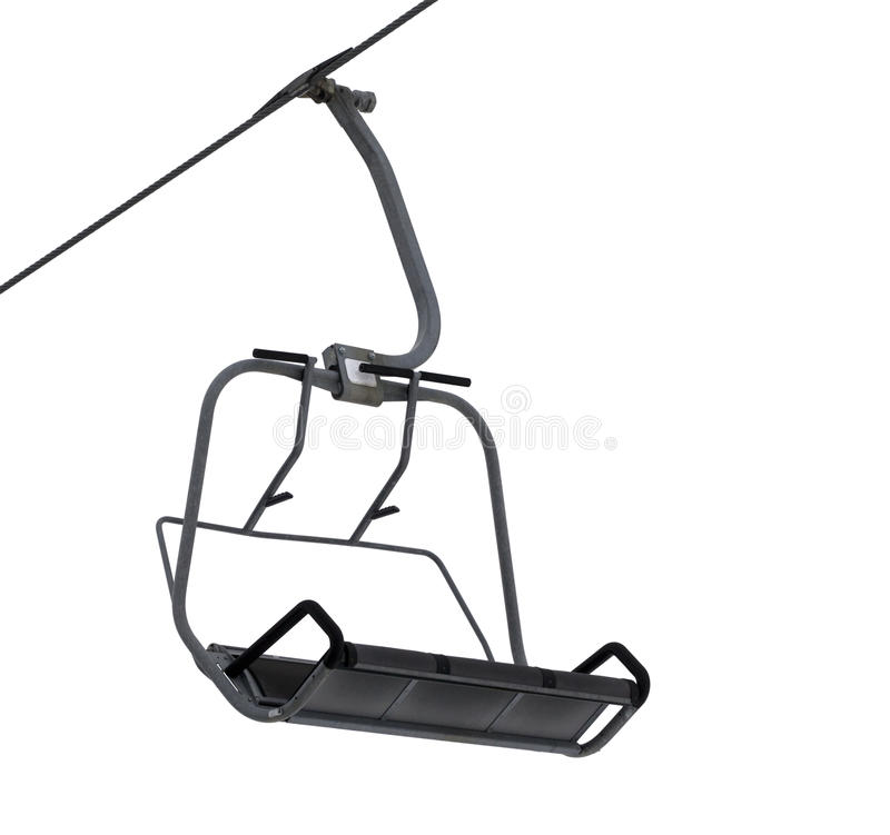 Chair-lift isolated on white. Background. Close-up view royalty free stock images