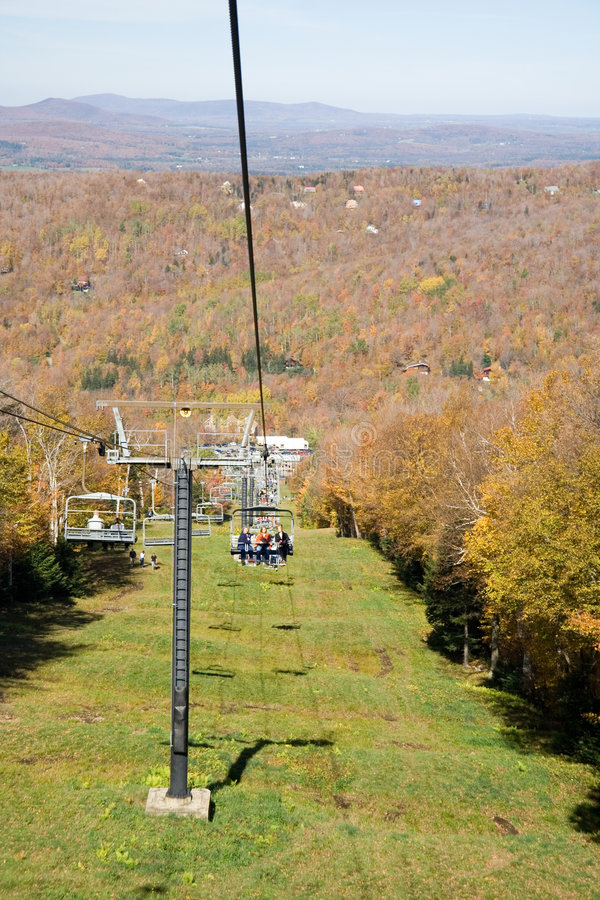 Download Chair-lift up mountain stock image. Image of resort, fall - 1344609