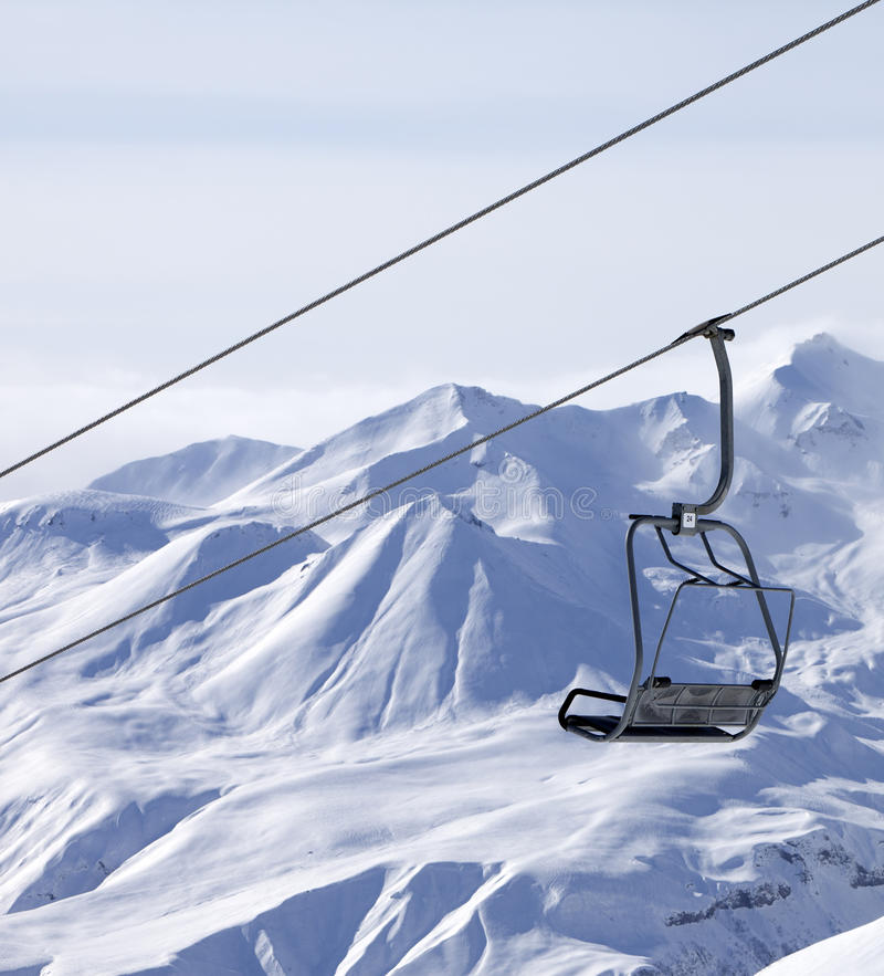 Download Chair Lifts And Off Piste Slope In Fog Royalty Free Stock Images - Image: 36982949