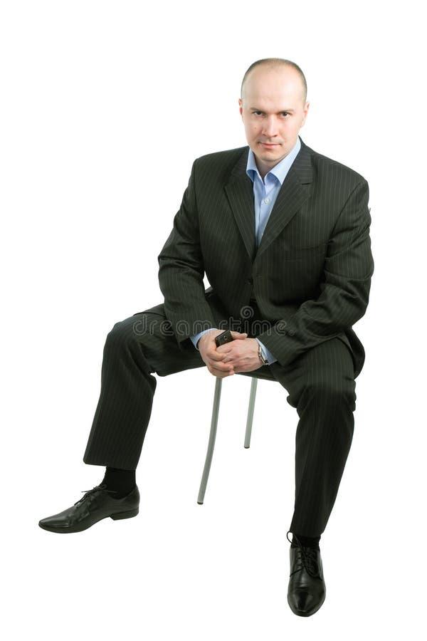 chair mansitting royaltyfri fotografi