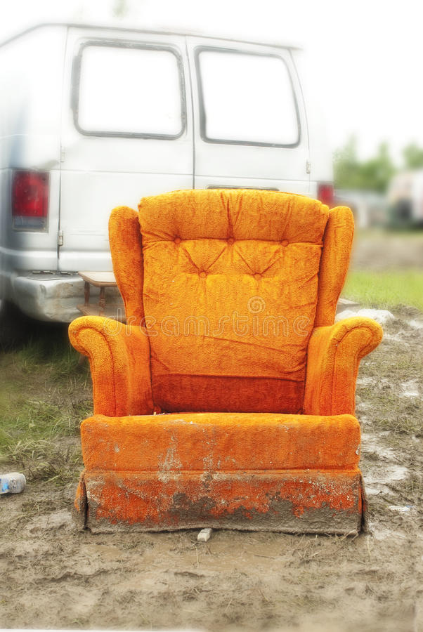 Chair in the mud