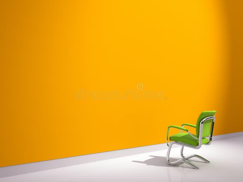 Download Chair near orange wall stock illustration. Image of interior - 15987430