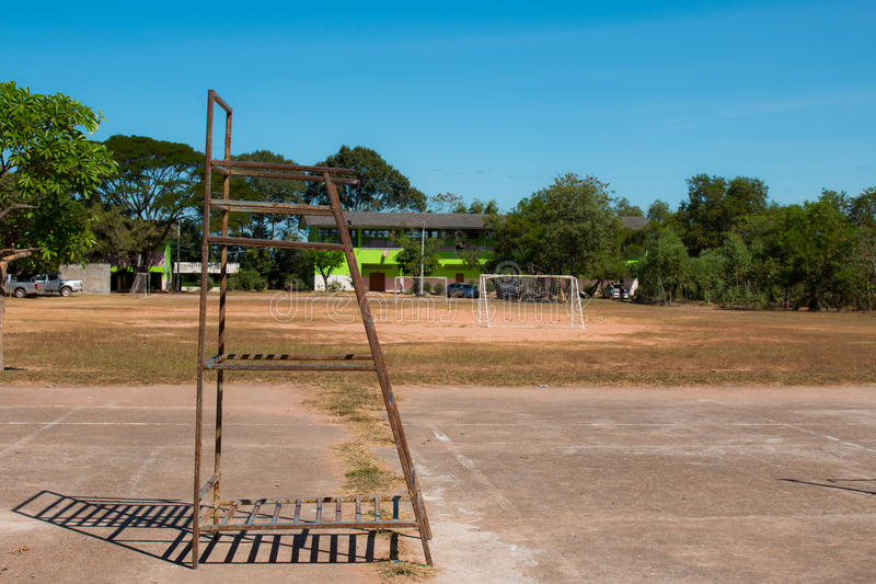 Chair outdoor volleyball stock image. Image of playground ...