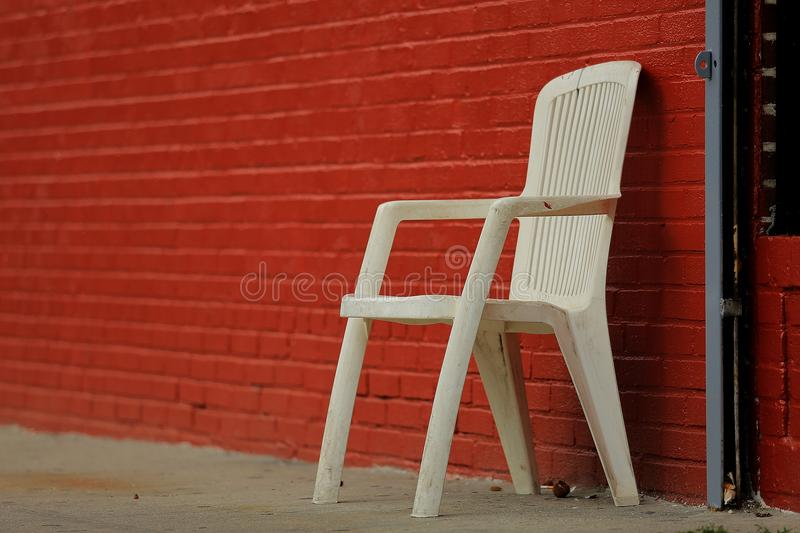 Chair, Red, Furniture, Wall stock photo