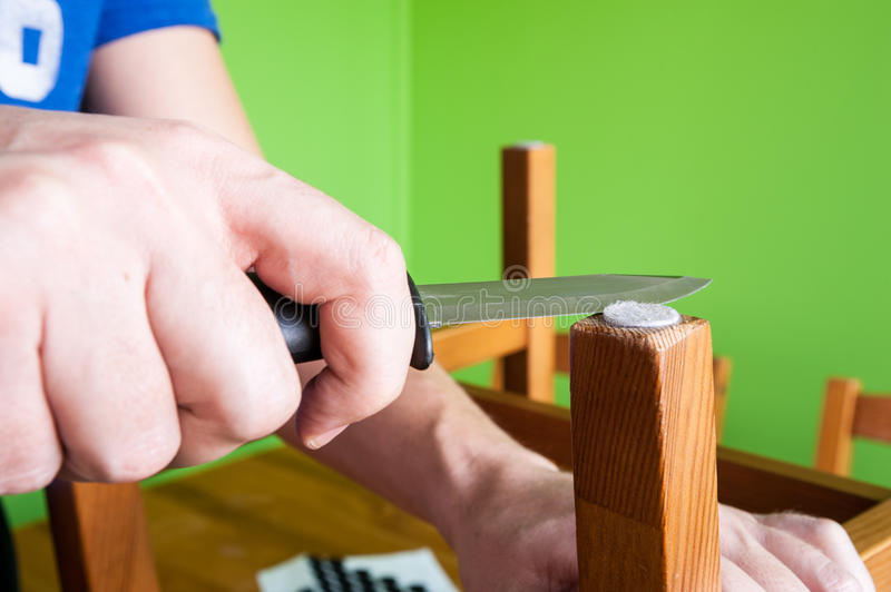 Chair renovation royalty free stock photography