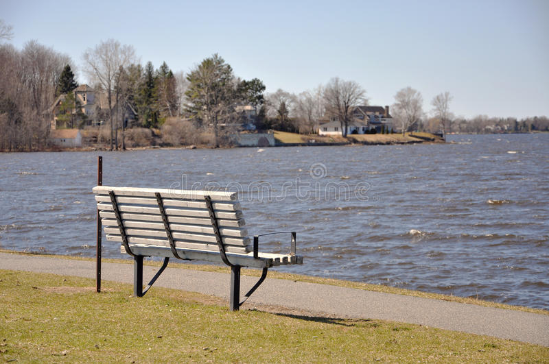 Download Chair on the Riverside stock photo. Image of chair, lake - 24905380