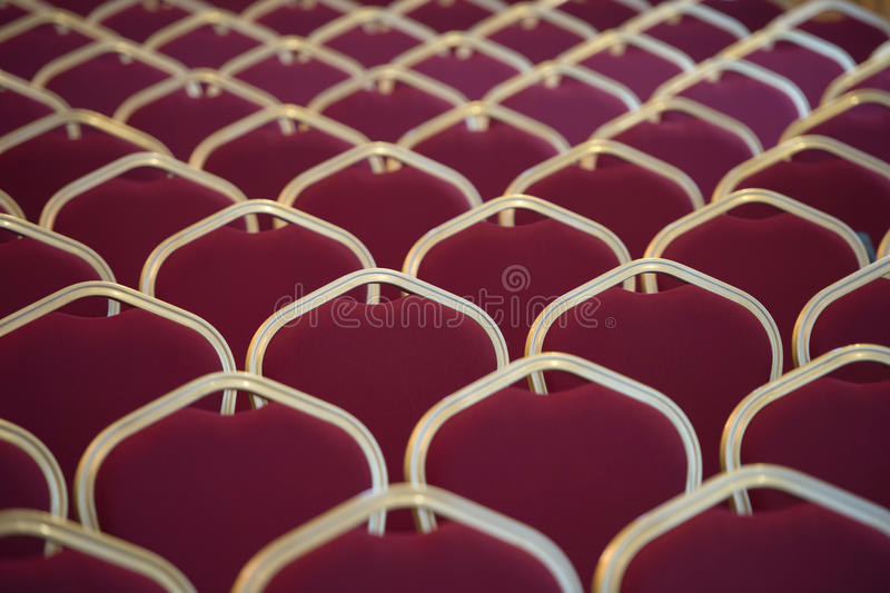 Chair Seats In Empty Conference Room Stock Images