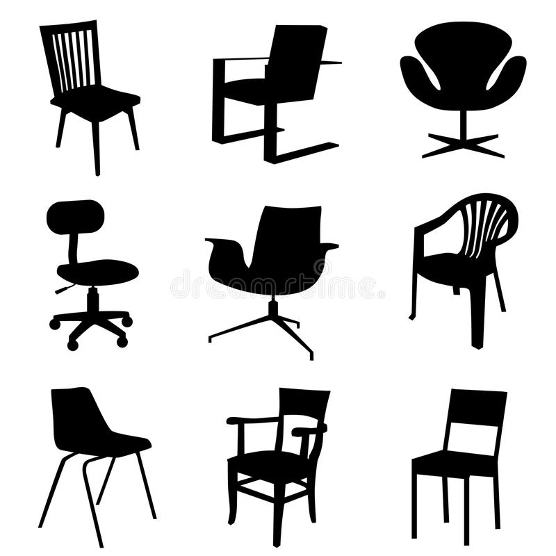 Chair set vector illustration